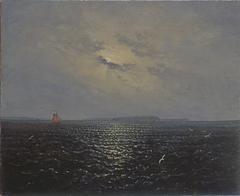 Moonlit night near the island of Rügen