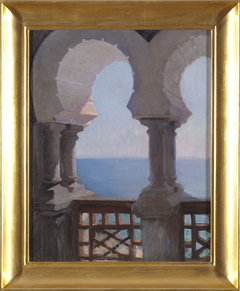 Moorish porch of the Bakhchi-Dere villa in Yalta. From the journey to Crimea