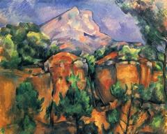 Mountains Mont Sainte-Victoire Seen from the Bibémus Quarry