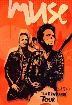 Muse tour collection poster