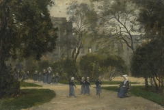 Nuns and Schoolgirls in the Tuileries Gardens, Paris