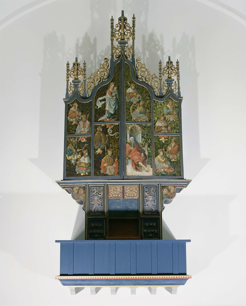 Organ from the Dutch Reformed Church at Scheemda with depiction of Jesse Tree