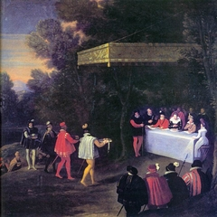 Outdoor Banquet for Henry IV of France and His Family