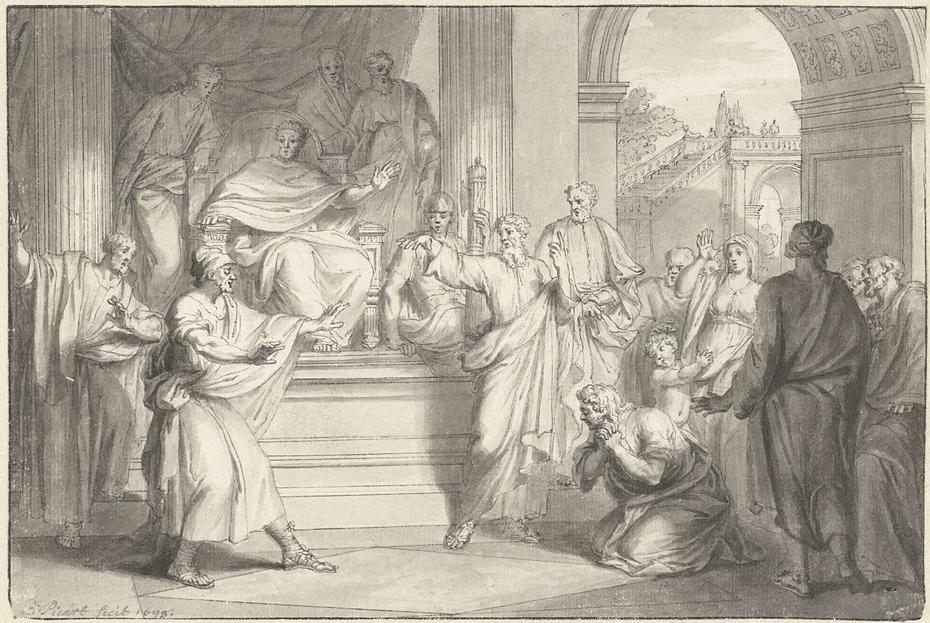 Paulus slaat de tovenaar Elymas met blindheid