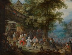 Peasants Dancing outside a Bohemian Inn