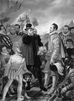 Philip II, King of Spain, Reproaches William I, Prince of Orange, in Vlissingen upon his Departure from the Netherlands in 1559