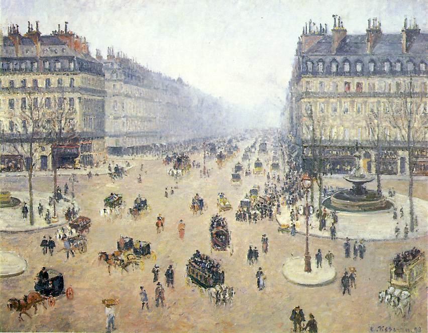 Place du Théâtre-Francais and the Avenue de l'Opéra, Hazy Weather