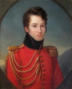 Portrait d'Alfred de Vigny (1797-1863), en uniforme de gendarme de la Maison du roi