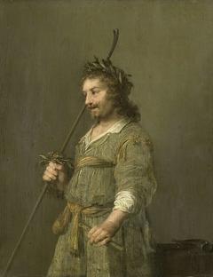 Portrait of a man dressed as a shepherd