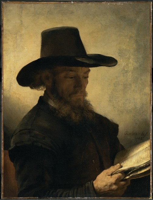 Portrait of a Man Reading by Candlelight