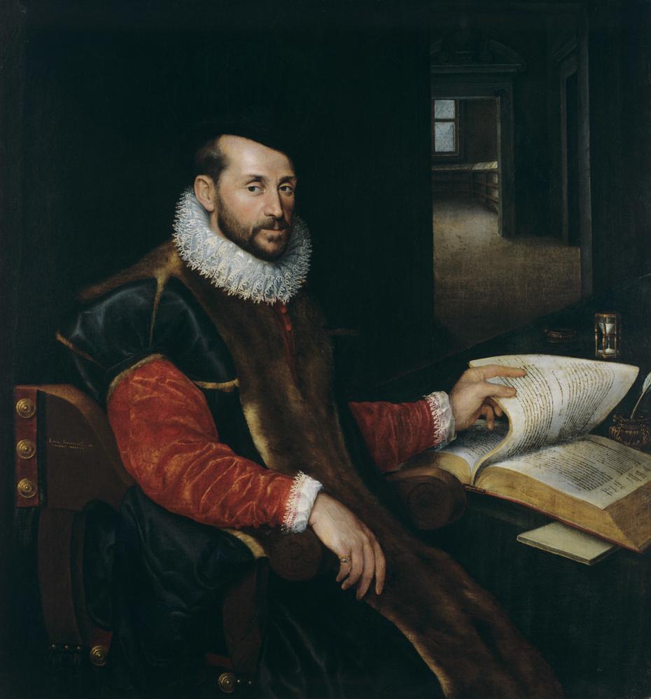 Portrait of a Sitting Man Leafing Through a Book