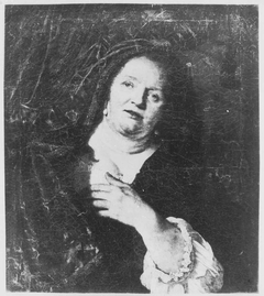 Portrait of a Woman with a Curtain
