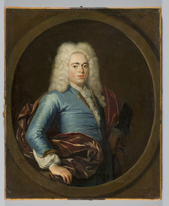 Portrait of a young man in a wig