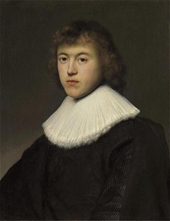 Portrait of a young man with floppy pleated lace collar