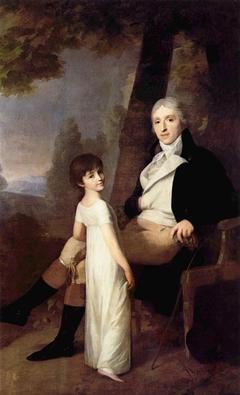 Portrait of Jaques Ferdinand Dufour-Feronce with his daughter Constance Aimée