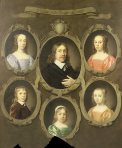 Portrait of John Beck and his five children