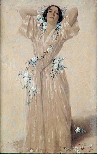 Portrait of madame Sabatier