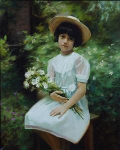 Portrait of the little girl