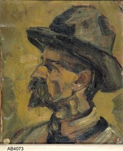 Portret van een man met hoed