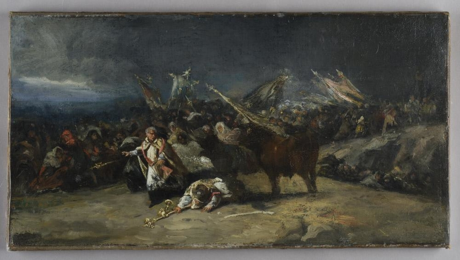 Procession Attacked by a Bull