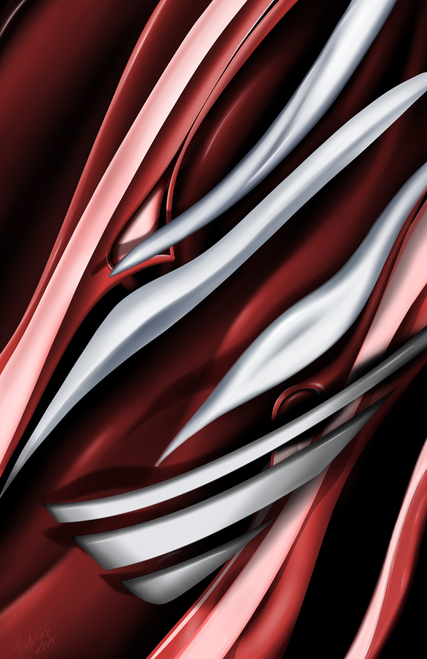 Red & White surface