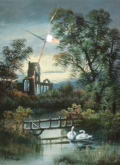 River Landscape and a Ruined Abbey