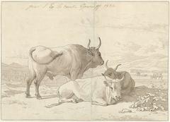 Rustend vee in de Italiaanse Campagna