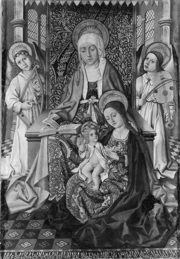 Saint Anne Enthroned with the Virgin and Child