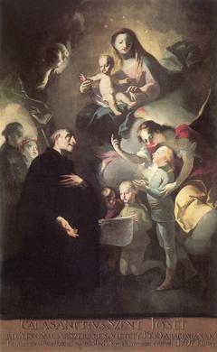 Saint Joseph Calasantius before the Virgin
