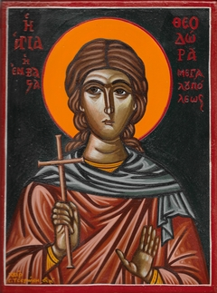 Saint Theodora of Megalopolis Vasta - Egg Tempera on Wood