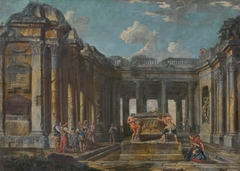 Scene from Roman History in Antique Ruins