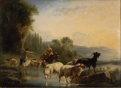 Sheep at the Watering Hole