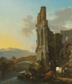 Southern Landscape with Herders near a Ruin