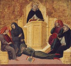 St. Thomas Aquinas Confounding Averroës