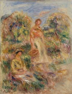 Standing Woman and Seated Woman in a Landscape (Une femme debout et une femme assise dans un paysage)