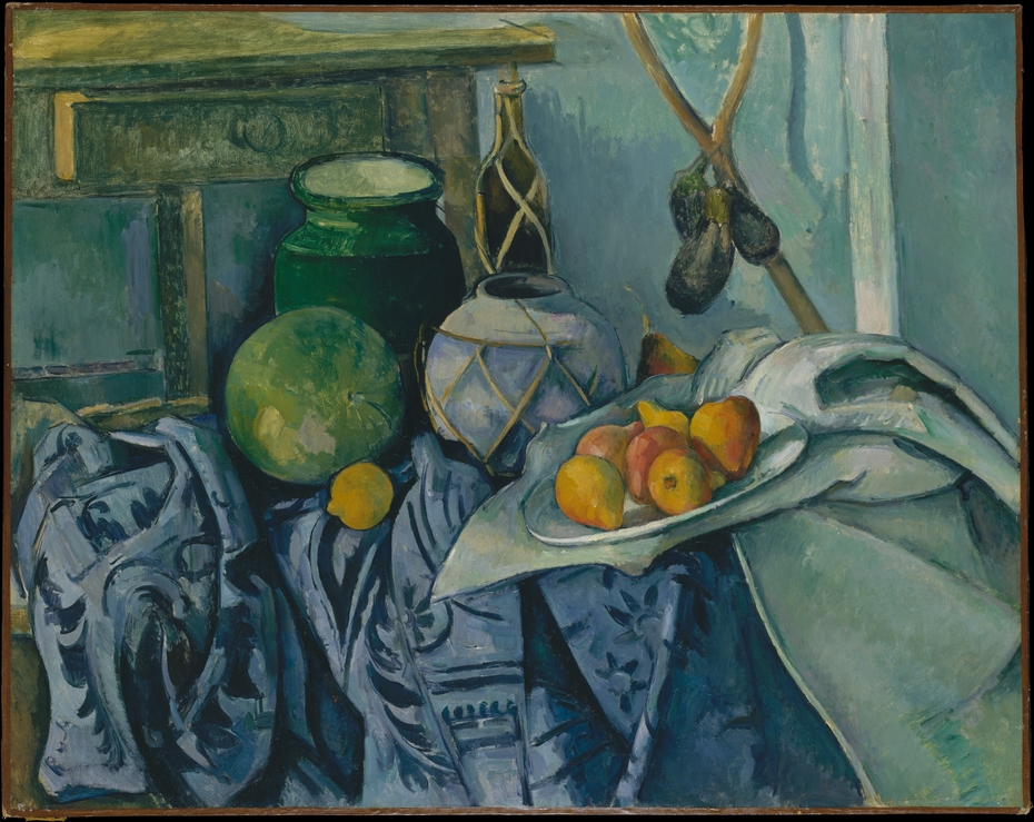 Still Life with a Ginger Jar and Eggplants
