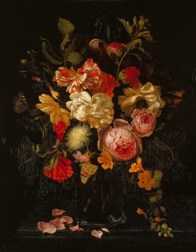 Still Life with Flowers and Butterflies