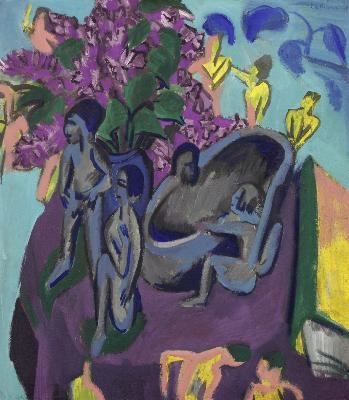 Still Life with Sculptures and Flowers