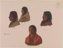 Studies of Indian Chiefs Made at Fort Laramie