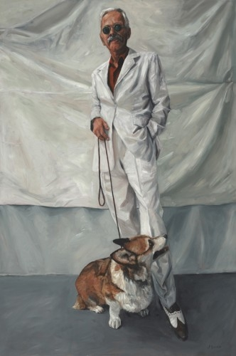 Study in White, Portrait of RC and Tonto