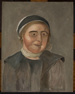 Study of a woman in a black and white cap