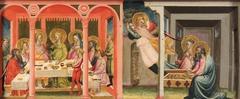 Szenen aus der Geschichte des Tobias (Vermählung Tobias mit Sara; Der Erzengel verläßt Tobit und Anna)
