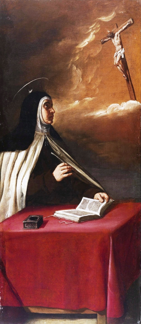 The crucified Christ appears to Saint Teresa of Avila