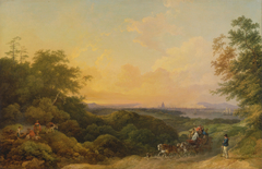 The Evening Coach, London in the Distance