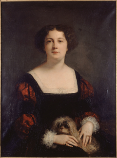 The lady with the small dog