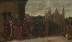 The Legation of the Czar of Muscovy on its way to the Meeting of the States-General in The Hague, 4 November 1631