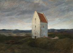 The old church of Skagen. Night