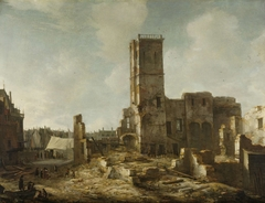 The Ruins of the Old Town Hall of Amsterdam after the Fire of 7 July 1652
