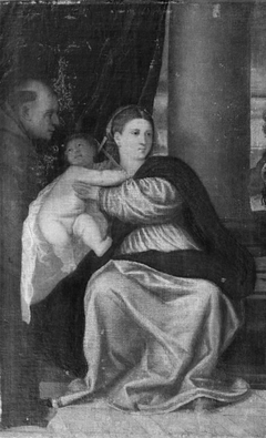 The Virgin and Child with St Francis
