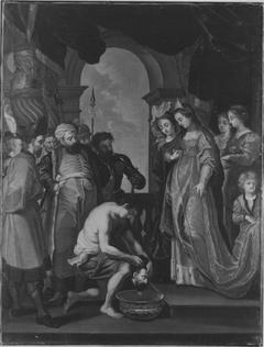 Tomyris lässt das Haupt des Cyrus in Blut tauchen (nach dem Stich von Paulus Pontius) (Kopie nach)